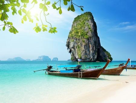 strand, thailand, meer, urlaub, reise, bucht, boote, sommer, asien